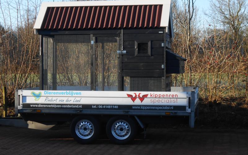 Kippenhok Ook is het mogelijk om zelf het dierenverblijf in geheel of in bouwpakket op te halen. Kwaliteits dierenverblijven van der Land