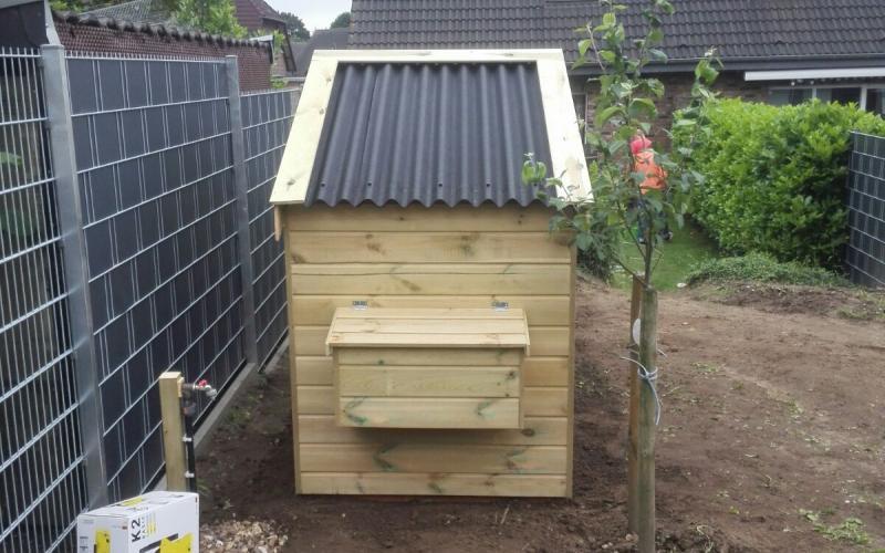 Kippenhok Optie losse ren, alle afmetingen mogelijk! Kwaliteits dierenverblijven van der Land