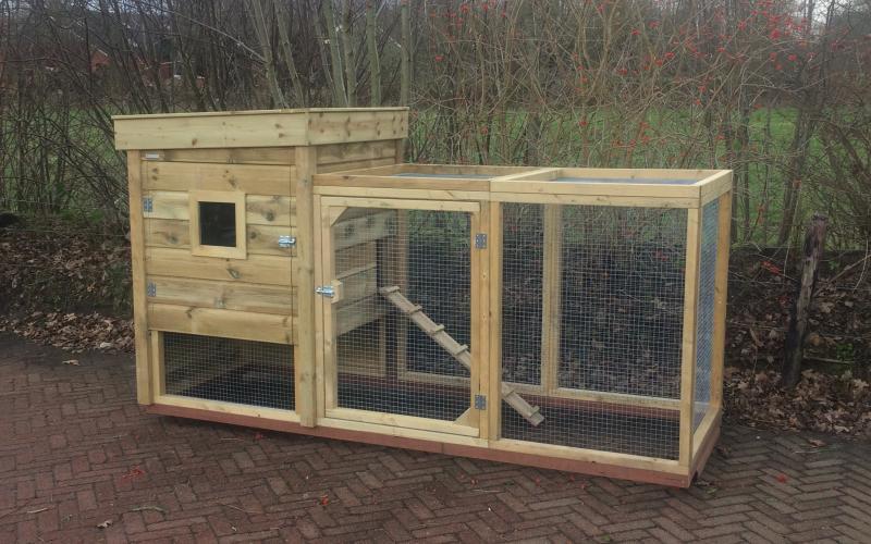 Kippenhok Kippenhok/konijnenhok Workum  Kwaliteits dierenverblijven van der Land