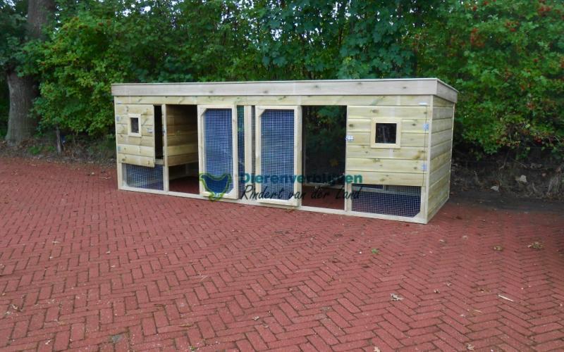 Kippenhok Leeuwarden dubbel type D Kwaliteits dierenverblijven van der Land